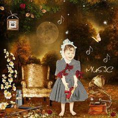 The enchanted music by Kitty Scrap Photo Alena Balabanova