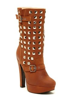 Apollo Studded Heeled Boot, beautiful but has a very high heel.