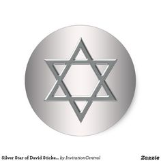 Silver Star of David Stickers
