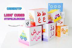 Review | Ludo Cubes, stapelblokken met het Arabisch en Latijns alfabet in