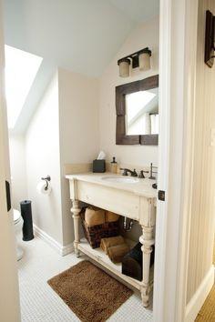 farmhouse bathroom sink stand