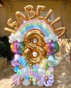 Simple Birthday Decorations, 2nd Birthday Party Themes, Birthday Balloon Decorations, Unicorn Birthday Parties, Birthday Balloons, Balloon Arrangements, Balloon Centerpieces, Balloons Galore, Balloon Gift
