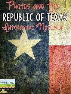 Let's talk about the Republic of Texas era of Texas History! 7th Grade Social Studies, Social Studies Classroom, Teaching Social Studies, Teaching History, History Interactive Notebook, Interactive Notebooks, History Lesson Plans, Republic Of Texas, Texas Pride