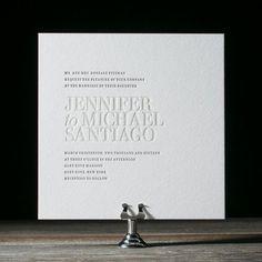 Simple Wedding Invitation Ideas for the Minimalist Bride | StyleCaster #weddinginvitation
