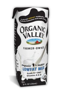 Organic Valley Single Serves for at home, school or on the road.