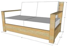 Cool Gardens: Outdoor Furniture - Plans for the Bristol Outdoor Loveseat by Old Paint Design. Based upon an outrageously priced version at Restoration Hardware. Refurbished Furniture, Cheap Furniture, Furniture Design, Furniture Layout, Garden Furniture, Furniture Websites, Furniture Dolly, Inexpensive Furniture, Furniture Logo