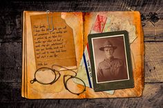Digital Scrapbooking Tutorial - A video Photoshop lecture learning how to make selections based on a channel, work on masking, apply keyboard shortcuts, combine memorabilia images, text, graphics and textures to create a story in a scrapbook album style. | Tutorialized