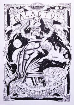 Galactus. by Alexandre Godreau, via Behance