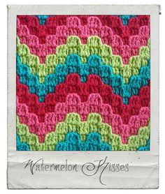 Ravelry: Watermelon Kisses pattern by Laura Pavy (gorgeous bargello style crochet patterns by this gal)