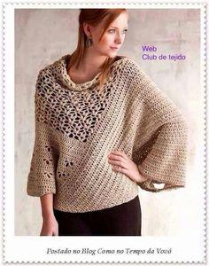 details amp; Alexander crochet Yumiko pattern Shells Ravelry kimono w Sand Cream sweater by lace qxCTwUp