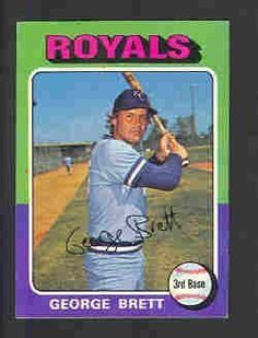 1975 Topps George Brett Baseball Rookie Card In Protective Display Case by Topps. $74.95