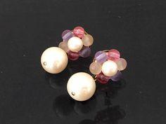 Vintage Jewelry Faux Pearl & Multi color by wandajewelry2013