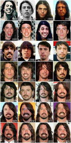 EVOLUTION OF DAVE #DAVEGROHL