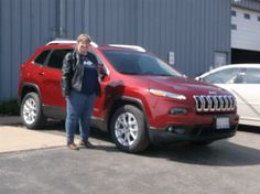 Dawn James of Neoga and her new 2014 JEEP CHEROKEE! Congratulations and best wishes from Hosick Motors, Inc. and Sales Pro Bryan Hobbie.