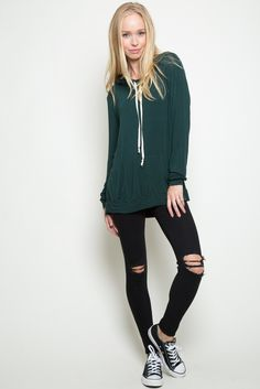 Brandy ♥ Melville | Layla Hoodie - Clothing. I have it in gray but I need it in this green