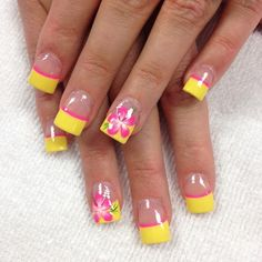 Nail art is a very popular trend these days and every woman you meet seems to have beautiful nails. It used to be that women would just go get a manicure or pedicure to get their nails trimmed and shaped with just a few coats of plain nail polish. Flower Nail Designs, Flower Nail Art, Nail Designs Spring, Fingernail Designs, Gel Nail Designs, Cute Nail Designs, Cute Spring Nails, Spring Nail Art, Summer Nails
