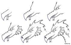 Cómo dibujar una cabeza de dragón