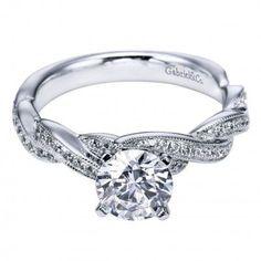 Twisted Band Engagement Ring #diamonds #wedding #engagementring #diamondring