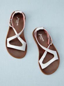 jacadi white sandal