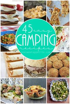 45 camping recipes. All sound amazing and simple.