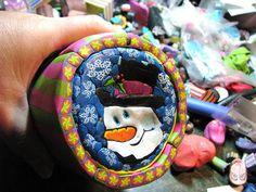 Wanda Shum's snowman cane