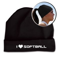 Ponytail Hat Softball Performance Beanie I Heart Softball - Pony Up (Black) Gone for a RUN,http://www.amazon.com/dp/B006WCIGEM/ref=cm_sw_r_pi_dp_kYY8qb0BEDQ473ED