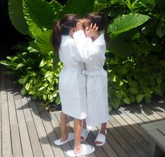 My #girls got treated to a #massage at the #LuxResorts #spa - with #chocolate fragranced massage oil!