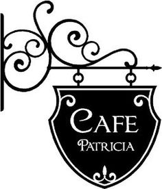 When I want to serve up some sass. Wrought Iron Decor, Wrought Iron Gates, R Cafe, Storefront Signs, Iron Furniture, Vinyl Signs, Iron Work, Vinyl Wall Art, Hanging Signs