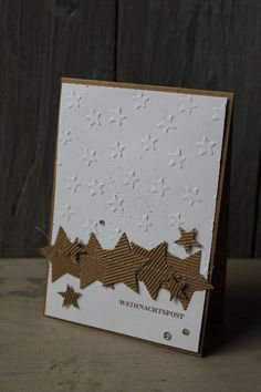 Weihnachtskarte Sterne, Bild1, gebastelt mit Produkten von Stampin' Up!