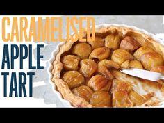 Rhum vanilla and cinnamon caramelised apple tart (with puff pastry) - YouTube Caramelised Apples, Apple Tart Recipe, Cinnamon, Vanilla, Cooking Courses, Youtube, Sweets, Autumn, Canela