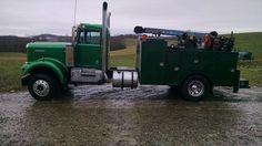 Welding Trucks, Welding Rigs, Farm Trucks, Big Trucks, Kenworth Trucks, Chevy Trucks, Red Tractor, Tractors, Truck Mechanic