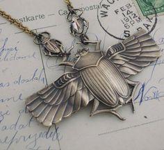 Egyptian Jewelry - Statement Necklace - handmade jewelry  $40.00 USD