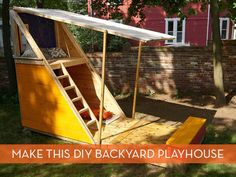 How To: Make a Kid's DIY Backyard Retreat Would keep the weather and the critters out!