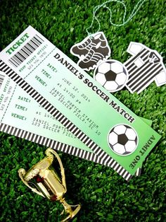 Football Soccer Birthday Party Printable Invitations