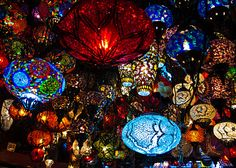 turkish lamps...want one for the new place :)