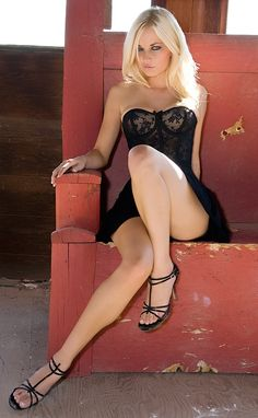 sexy black dress from Kythoni's Legs & Short Skirts and Women Are Beautiful boards plus 5/6 love her leg positioning