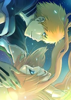 Ichigo Kurosaki and Orihime Inoue - I don't ship these two, but the picture is cool