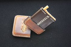 Leather cigarette case - a stylish gift that will join the collection of useful accessories of real lovers of quality cigarettes and beautiful things. Leather cigarette case, made of natural American leather vegetable tanning. A cigarette-case is sewn by hand using a strong