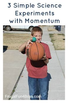 Easy Science Experiments with Momentum - Frugal Fun For Boys and Girls Drei einfache wissenschaftlic Easy Science Experiments, Science Chemistry, Science Activities For Kids, Science Fair Projects, Preschool Science, Teaching Science, Food Science, Physical Science, Science Jokes