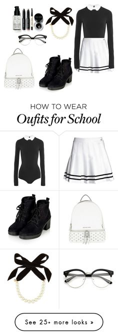 """""""school"""" by designbyeva on Polyvore featuring MICHAEL Michael Kors, Alice + Olivia, Bobbi Brown Cosmetics and Lulu Frost"""
