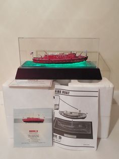 Code 3 1/136 Victor L. Schlaeger Fireboat Marine Engine Co 58 w/ Lighted Display #Code3Collectibles