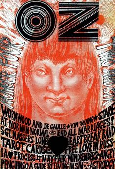 Martin Sharp - OZ - Number Four - two and six, OZ Magazine, London, June 1967.