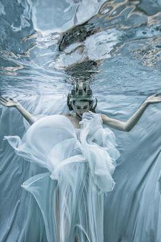 Romi Burianova – El Grace • Dark Beauty Magazine #water #swimming #photography