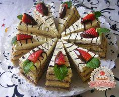 Vaníliás-csokis szelet eperrel