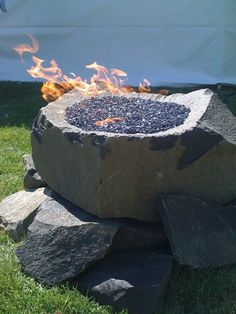 Rock Firepit by Herke Rock.