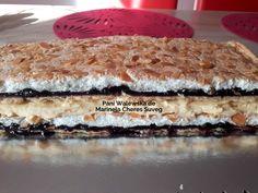 Prăjitura Pani Walewska cu bezea, cremă de vanilie și gem de fructe de pădure | Savori Urbane Dessert Recipes, Desserts, Tiramisu, Ethnic Recipes, Food, Creative Art, Gem, Tailgate Desserts, Deserts