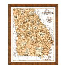 Sepia State Map from Ballard Designs