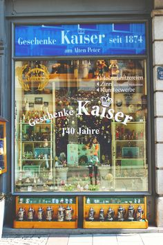 old school shop in Munich (Geschenke Kaisers)