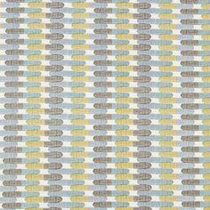 Aqua Gray Contemporary Upholstery Fabric by PopDecorFabrics