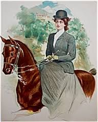 lady and horse vintage picture